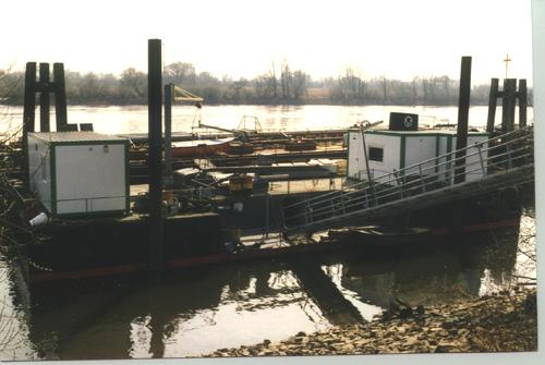 Het werkschip DARLINGERODE in Hamburg. Foto: collectie Arie Lentjes.