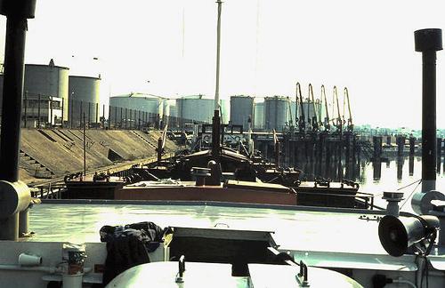 De ARGOVIA gezien vanaf de ankerlier naar achteren. Foto: Silis Noordloos - met dank.