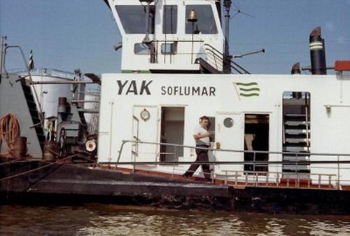 De duwboot YAK (R 14654 F) van Soflumar, de Franse dochter van Van Ommeren. Foto: Archief Arie Lentjes.