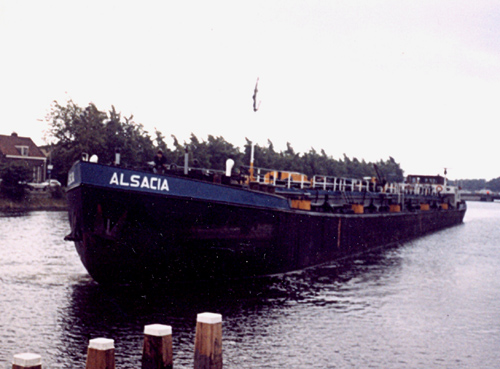 De ALSACIA in Middelburg, onderweg naar Vlissingen. Foto: J. den Ouden - met dank.